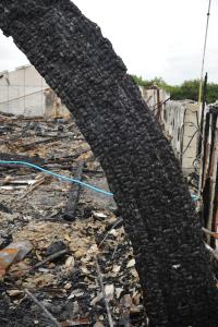 Indbrænding af limtræ i konstruktion sker kontrolleret